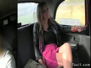 Huge Tits Sexy Brunette Fucked In Taxi