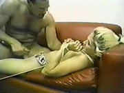 Blonde Forced On Couch