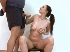 Busty Babe Porcelin Hot Handjob