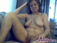 Amateur Granny Being A Tease To The Camera