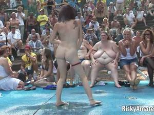 Naughty Amateurs Getting Wet In Public Free