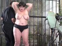 Freaky Initiate Sadism Of Whipped And Stinging Nettle Tortured Plumpy Slaveslut Andrea Punished Inside A Prison Cellar