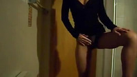 Girl With A Beautiful Body Slowly Undresses