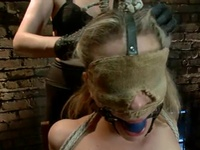 Bonded Blonde Pussy Has Toyed Inside Her Brown Eye After Wax Episode