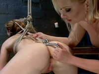 Lesbie Domination Together With Katja Kassin Making Love Claire Robbins Round Strapon